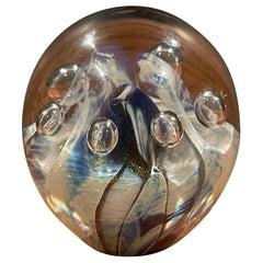 Art Glass Orb Sculpture or Paperweight by Robert Eickholt