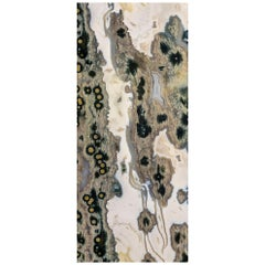 Art Glass River Decorative Panel for Multiple Uses Dimension Customizable