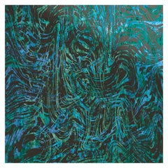 Art Glass Swirling Decorative Panel for Multiple Uses Dimension Customizable