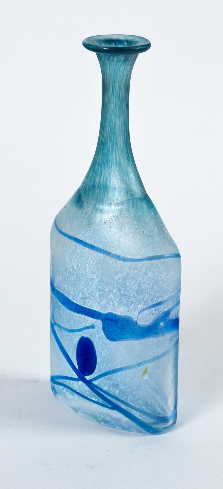 20th Century Art Glass Vase, Bertil Vallien, Kosta Boda, Sweden, circa 1970 For Sale