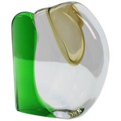 Art Glass Vase by Jaroslav Svoboda for Skrdlovice, Czech, circa 1980, Signed