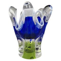 Art Glass Vase by Josef Hospodka for Chribska Glassworks, 1960's