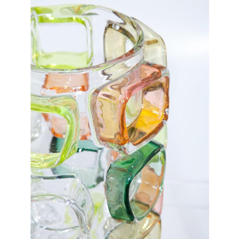 German Art Glass Vase by Martin Potsch For Sale