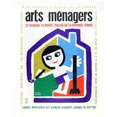 Art Menagers Poster Cream by Francis Bernard