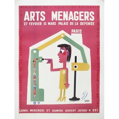 Art Menagers Poster Pink by Francis Bernard