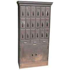 Art Metal Construction Company Filing Cabinet Distressed Paint