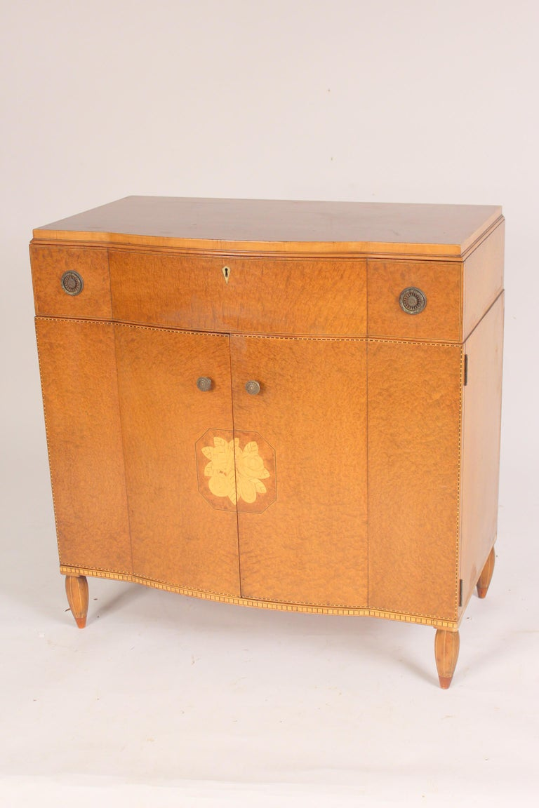 Art Deco Art Moderne Burled Ash Cabinet / Chest of Drawers For Sale