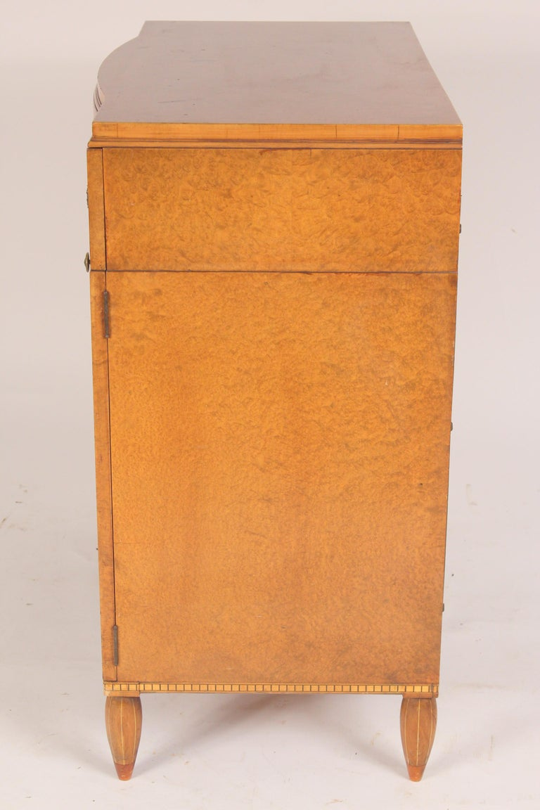 North American Art Moderne Burled Ash Cabinet / Chest of Drawers For Sale
