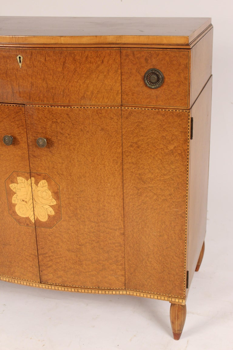 Art Moderne Burled Ash Cabinet / Chest of Drawers For Sale 1