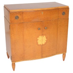 Art Moderne Burled Ash Cabinet / Chest of Drawers