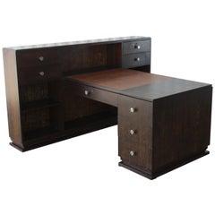 Art Moderne Desk by Jean Desnos for Rambaudi-Dantoine, France, 1930s