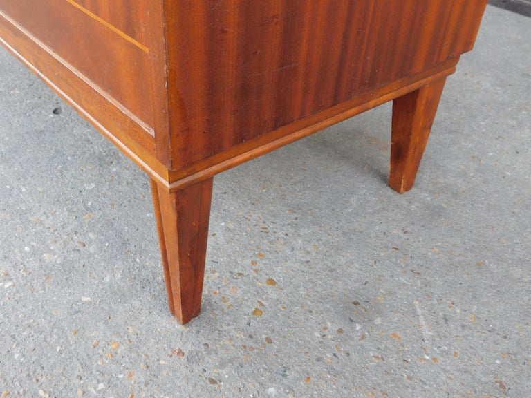 Art Moderne Secretaire Desk with Chest of Drawers in Mahogany, Sweden, 1940s For Sale 4