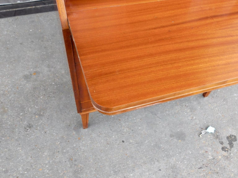 Art Moderne Secretaire Desk with Chest of Drawers in Mahogany, Sweden, 1940s For Sale 1