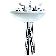 Art Nelson for Kohler Artist's Edition Cactus Cutter Pedestal Sink, 1986