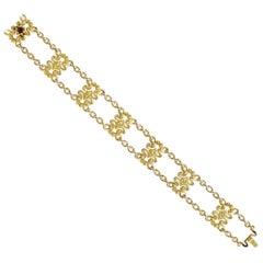 Art Nouveau 14K Yellow Gold Strap Bracelet by Sloan & Co.