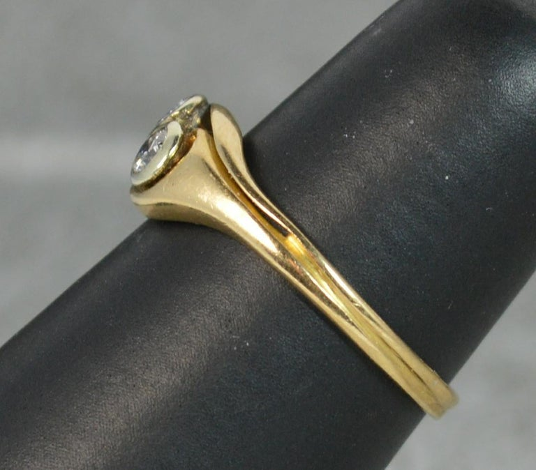 Art Nouveau 18 Carat Gold and Diamond Twist Toi et Moi Ring In Excellent Condition For Sale In St Helens, GB