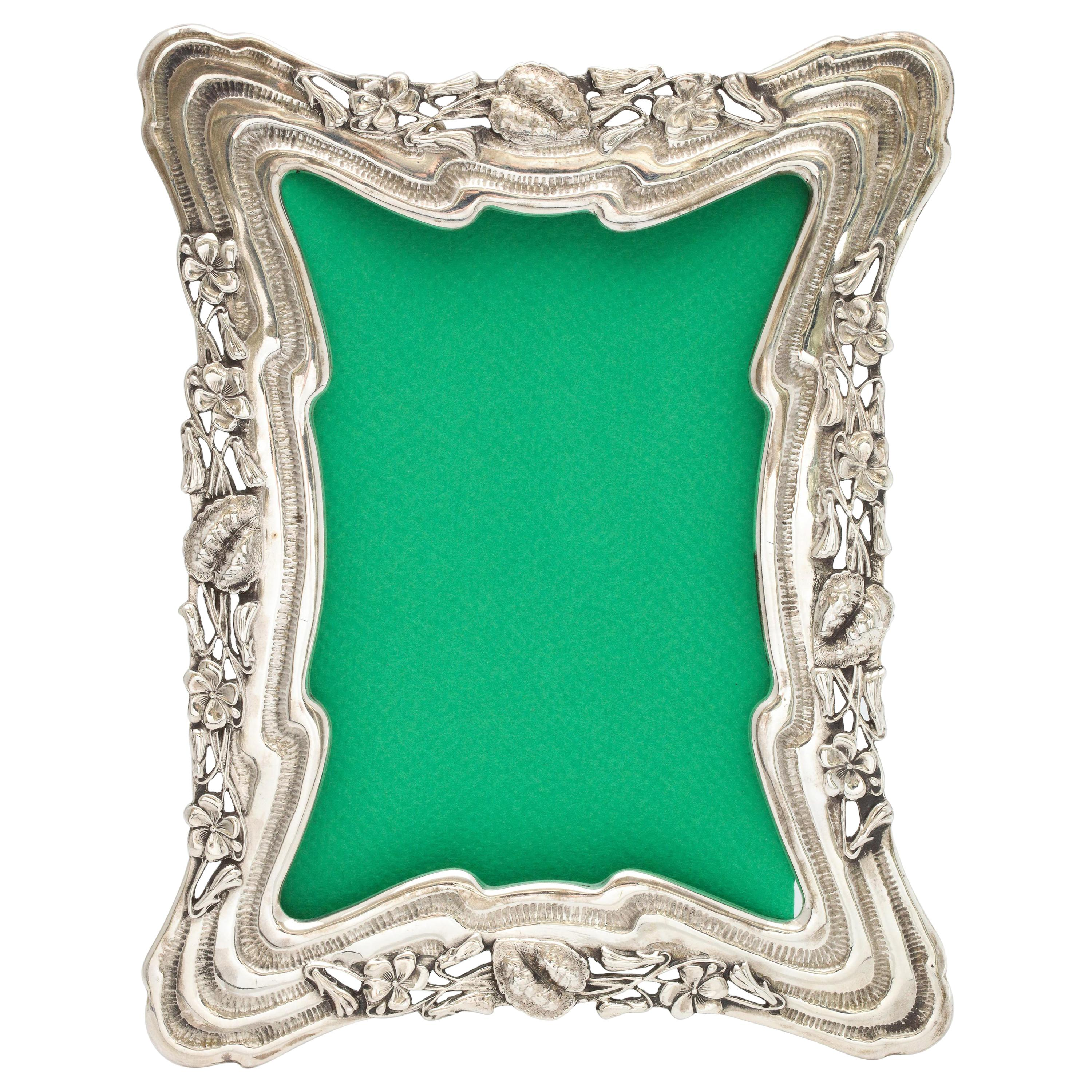 Art Nouveau All Sterling Silver Picture Frame by Theodore B. Starr
