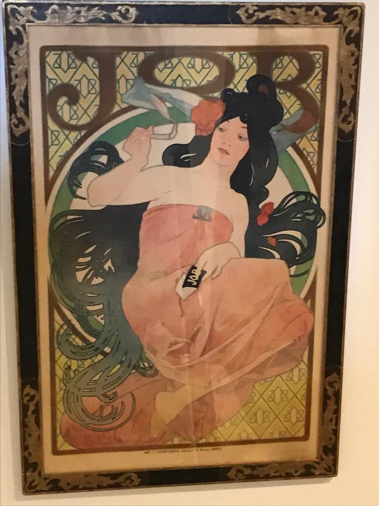 Late 19th Century Art Nouveau Alphonse Mucha Original JOB Poster, 1898