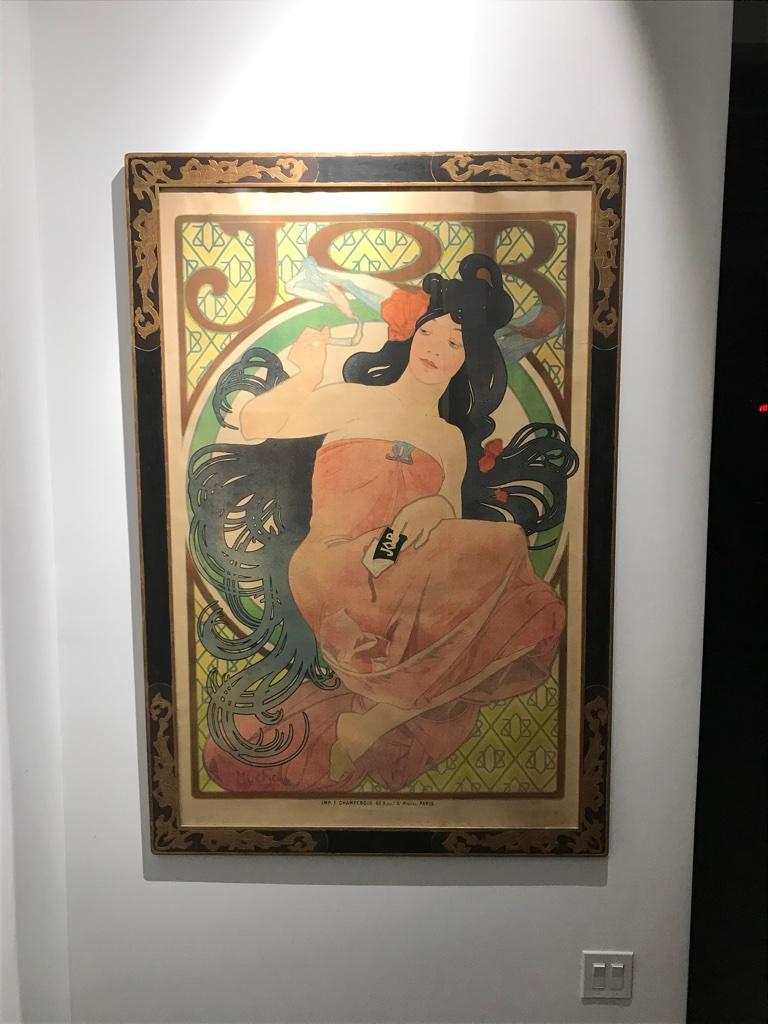 Art Nouveau Alphonse Mucha Original JOB Poster, 1898 1