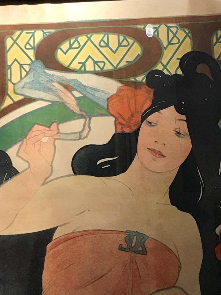 Art Nouveau Alphonse Mucha Original JOB Poster, 1898 2