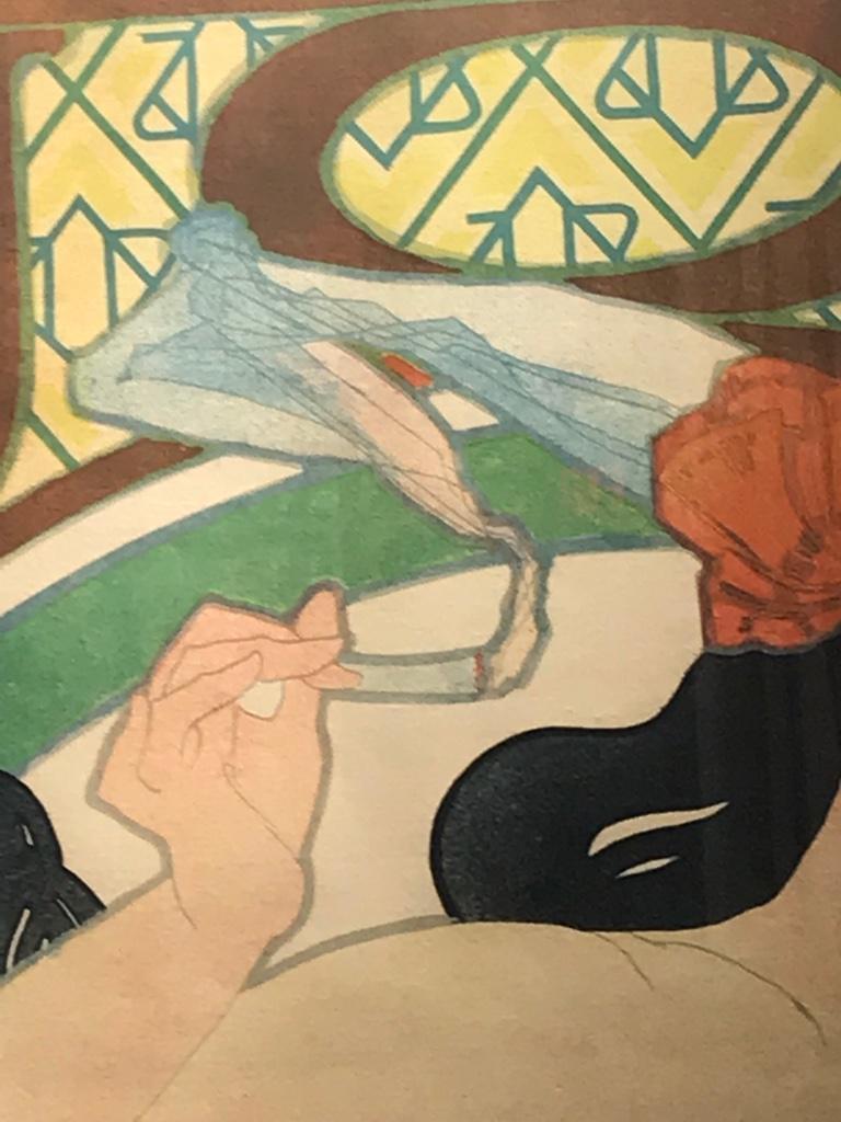 Art Nouveau Alphonse Mucha Original JOB Poster, 1898 3