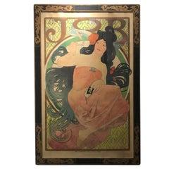 Art Nouveau Alphonse Mucha Original JOB Poster, 1898