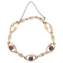 Art Nouveau Amethyst Bracelet