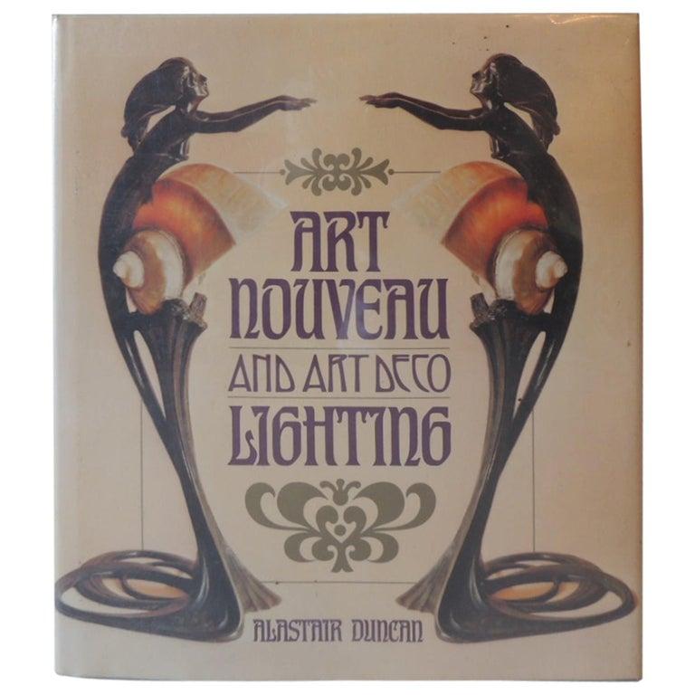 Art Nouveau and Art Deco Lighting Decorative Book by A. Duncan For Sale