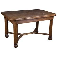 Art Deco Antique Extendable Dining Table, circa 1920