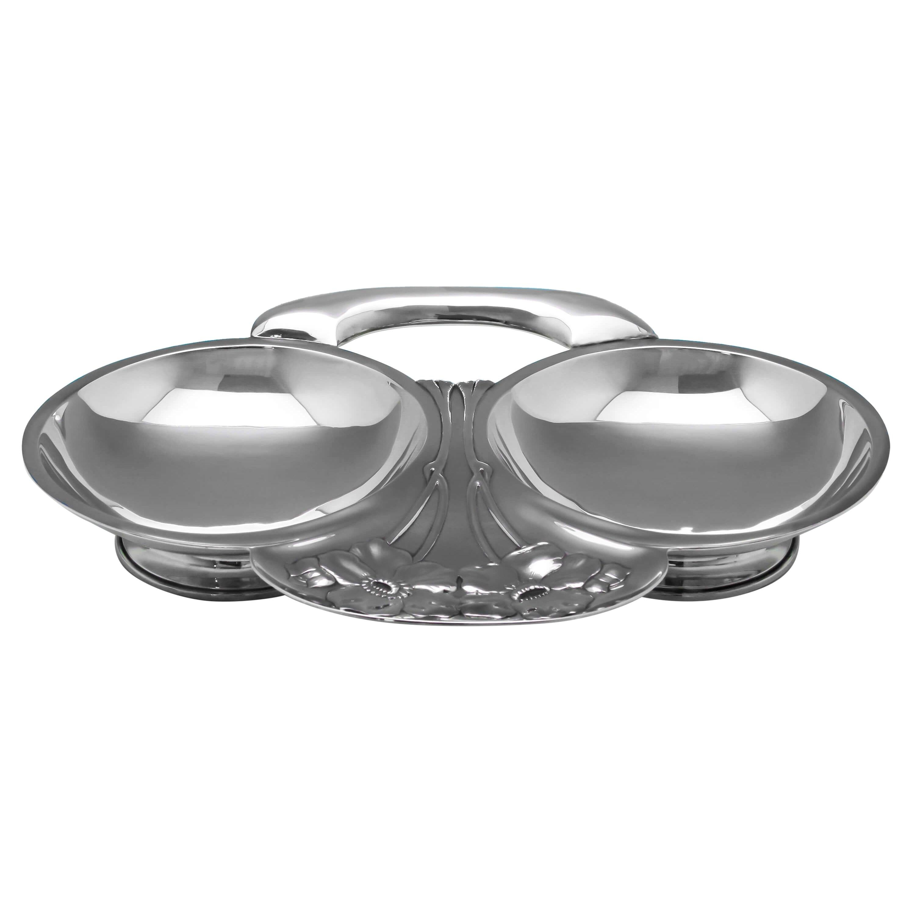 Art Nouveau Antique Sterling Silver Dish Hallmarked in London in 1905