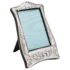 Art Nouveau Antique Sterling Silver Photograph Frame from 1911