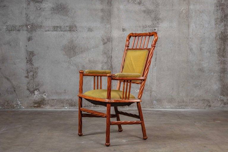 Art Nouveau open armchair  Measures: Arm 25 1/4
