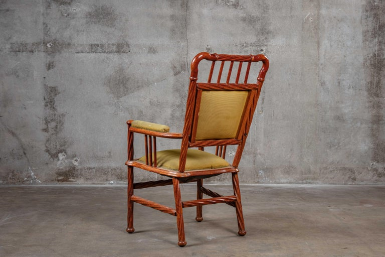 Art Nouveau Armchair In Fair Condition For Sale In Los Angeles, CA