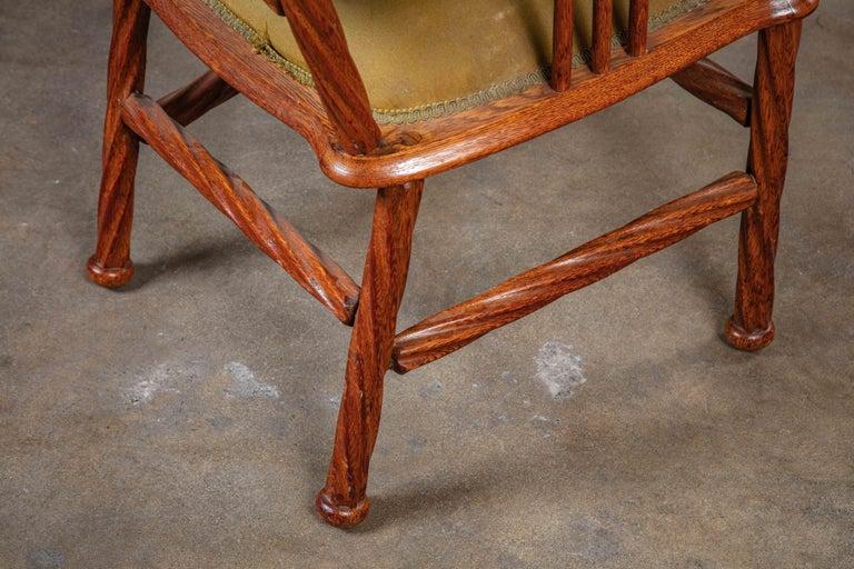 Wood Art Nouveau Armchair For Sale