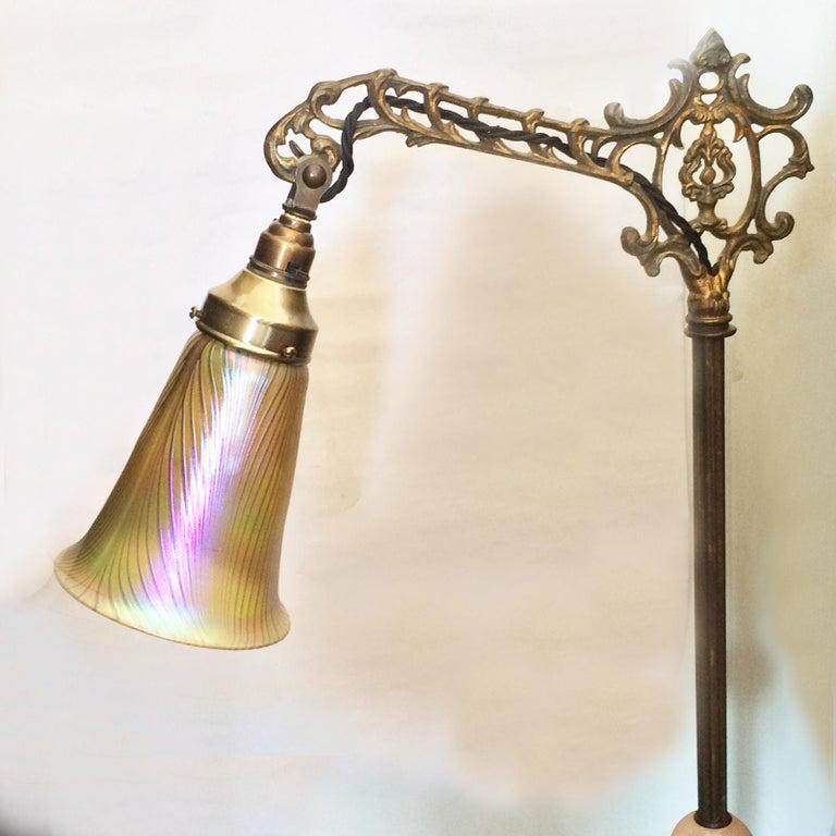 Art Nouveau Art Deco Bridge Floor Standard Lamp For Sale At 1stdibs