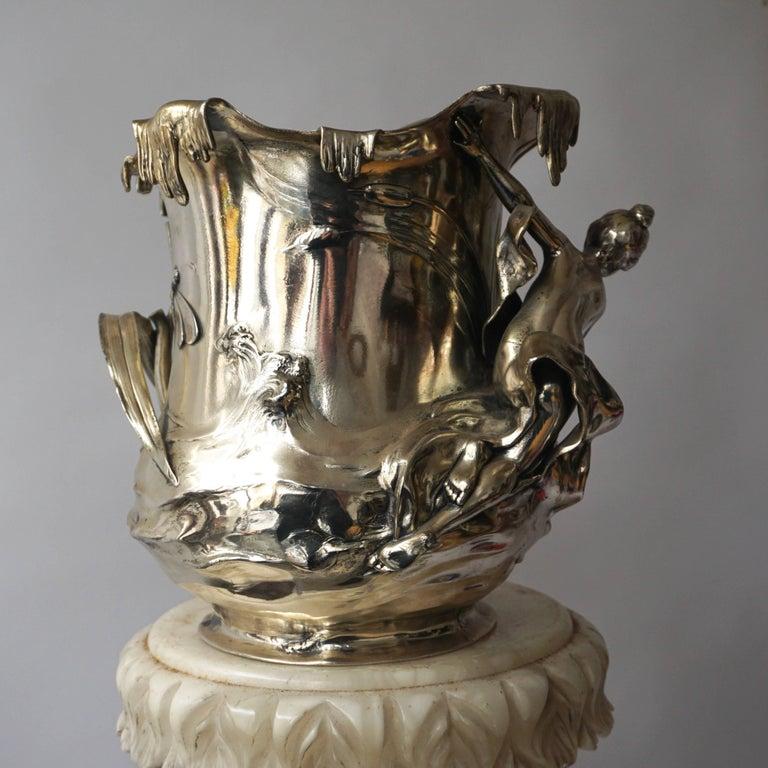 German Art Nouveau Art Nouveau WMF Pewter Champagne Bucket