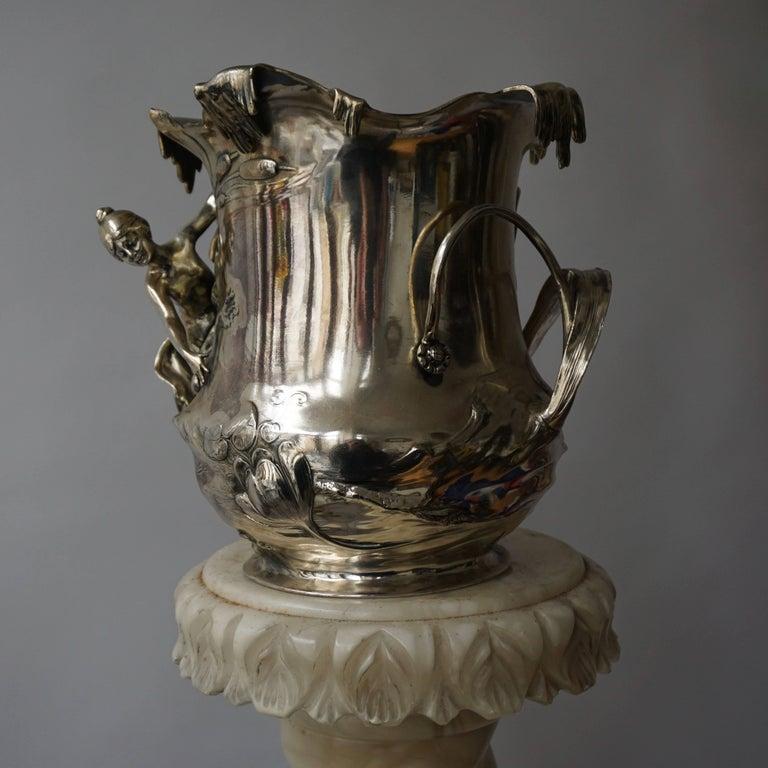 Early 20th Century Art Nouveau Art Nouveau WMF Pewter Champagne Bucket