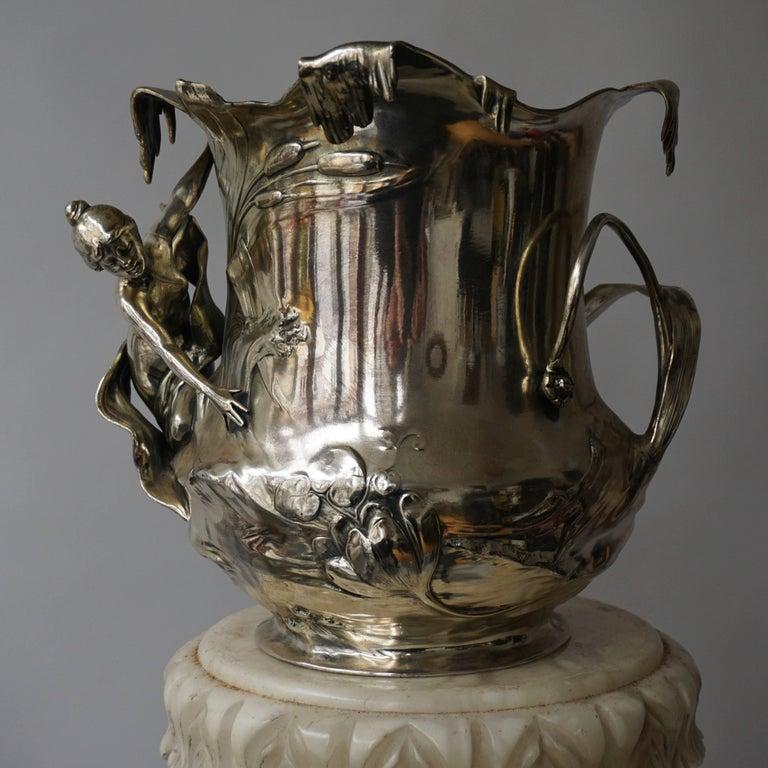 Silver Plate Art Nouveau Art Nouveau WMF Pewter Champagne Bucket
