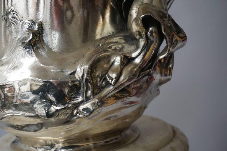 Art Nouveau Art Nouveau WMF Pewter Champagne Bucket 3