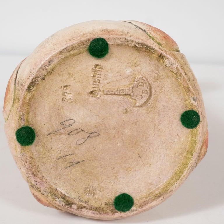 Art Nouveau Austrian Secessionist Sculptural Ceramic Vase by Julius Dressler For Sale 3