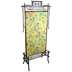 Art Nouveau Bamboo Screen, Austria, circa 1900