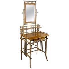 Art Nouveau Bamboo Vanity Table, Austria, circa 1910