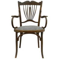 Art Nouveau Bentwood Armchair Includes Refinishing and Recovering, circa 1900