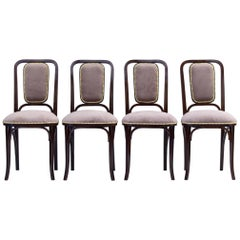 Art Nouveau Bentwood Chairs by Thonet circa 1905, Set of 4