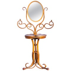Art Nouveau Bentwood Shave Stand and Mirror