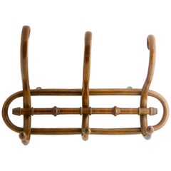 Art Nouveau Bentwood Wall Coat Rack by Thonet, Vienna, 1910s