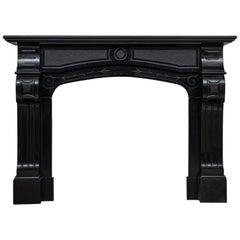 Art Nouveau Black Noir de Mazy Black Marble Fire Place