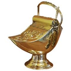 Art Nouveau Brass Coal Helmet