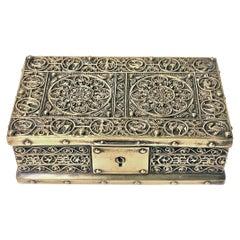Art Nouveau Brass Jewelry Box, Germany circa 1920 Erhard & Söhne