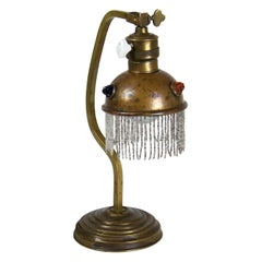 Art Nouveau Brass Table Lamp, circa 1900